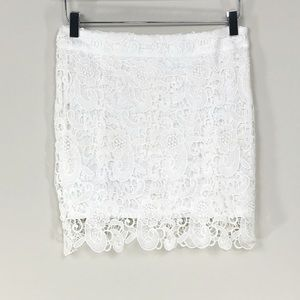 Breeze Ever | White Lace Skirt
